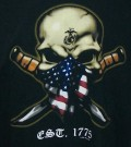 T-Shirt USMC Est. 1775 Skull Ka-Bar: XL