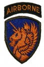 13th Airborne Division Tygmärke WW2 original