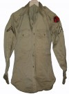 Uniformsskjorta Khaki Private 7th ID US Army WW2 original typ: S
