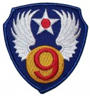 Tygmärke+9th+USAAF+US+Army+Air+Force+WW2