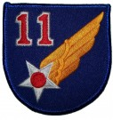 Tygmärke+11th+USAAF+US+Army+Air+Force+WW2