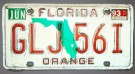Florida Nummerplåt USA Orange