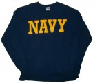 Navy+US+L/S+T-Shirt:+L