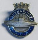 Metallmärke Submarines OCA Royal Navy WW2 original