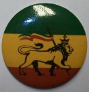 Rasta Reggae Lion of Judah Badge Knappmärke