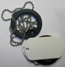 DOG TAGS US Arctic Winter Snow White
