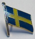 Pin Sverige flagga Sweden flag