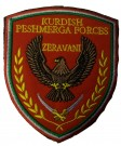 Tygmärke Patch Peshmerga Forces Kurdistan