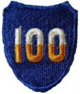100th Infantry Division Tygmärke färg WW2