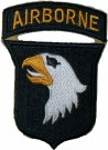 101st Airborne Division med båge White Tongue WW2 typ