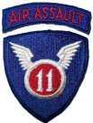 11th+Airborne+Division+Air+Assault+Tygmärke+Färg