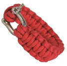 Armband Paracord Bracelet Red Metallås