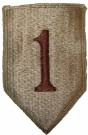 "1st Infantry Division Tygmärke desert ""Big Red One"""