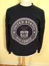 Sweatshirt Tröja USAF US Air Force SOFFE: XL