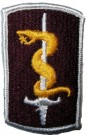 30th Medical Brigade + kardborre Tygmärke färg