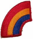 42nd Infantry Division tygmärke WW2