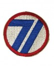71st Infantry Division patch WW2 color Original