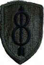 8th Infantry Division Tygmärke subdued