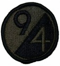 94th Infantry Division Tygmärke subdued
