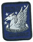 Delta Company Winged Warriors Rgt Tygmärke färg