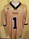 Football tröja Notre Dame Fighting Irish NCAA #1: XL