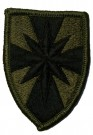 8th Army Field Support Subdued Tygmärke Original