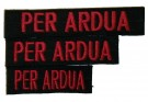 Moral-strip PER ARDUA Black/Red