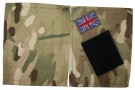 Kardborre Cover MultiCam MTP + UK Flag: Ett par
