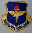 US Air Force Training Command Tygmärke färg
