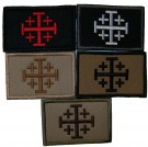 Jerusalem Cross Morale-patch Flagga Kardborre
