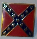 Flagga Pin CSA Rebel Southern Cross