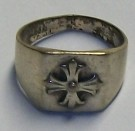 Ring Silver Crusader Cross