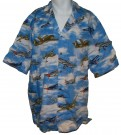 Skjorta Hawaii WW2 Fighters Bombers: XL