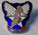 Pin Miss Hap Nose Art USAF Bomber WW2
