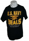 T-Shirt Navy SEALs Only easy day was yesterday: L