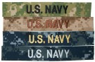 Strip US Navy eller Namn till uniform NWU Digital