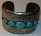Armband Concho Silver Navaho Indian Original