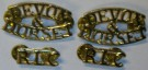 Insignia Shoulder Title RLC Devon & Dorset WW2 typ
