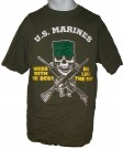 T-Shirt USMC Mess with...Die like... : L