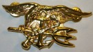 Insignia Trident Navy Seal Officer Guld stort Original