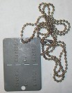 Dog-Tag IDF Israel DISKIT ID-bricka Battle Worn
