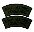 Axelmärken Royal Marines Commando subdued