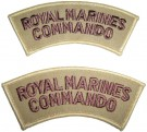 Axelmärken Royal Marines Commando desert