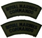 Axelmärken Royal Marines Commando Kardborre subdued
