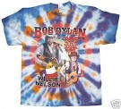 Bob Dylan + Willie Nelson Batik T-Shirt Baseball Tour XL