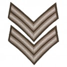 Rank Chevrons Corporal Brittisk WW1 WW2 Repro