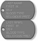 DOG TAGS US Military Standard Matta