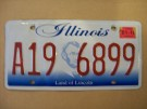 Illinois Nummerplåt USA Land of Lincoln