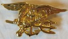 Insignia Trident Navy Seal Officer Guld stort