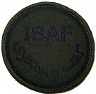 ISAF Combat patch med kardborre Subdued 2011-